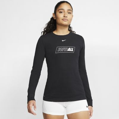 Nike Dri-FIT Women's Long-Sleeve Softball Crew