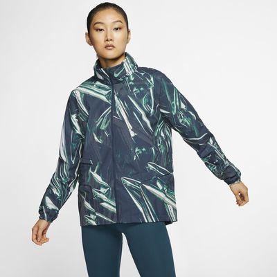 Nike Shield Tam Boy Fermuarlı Kadın Koşu Ceketi