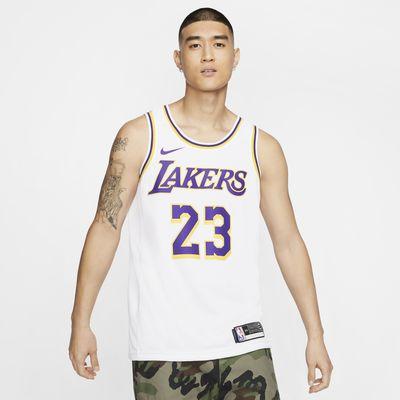 洛杉矶湖人队 (LeBron James) Association Edition Swingman Nike NBA Jersey 男子球衣