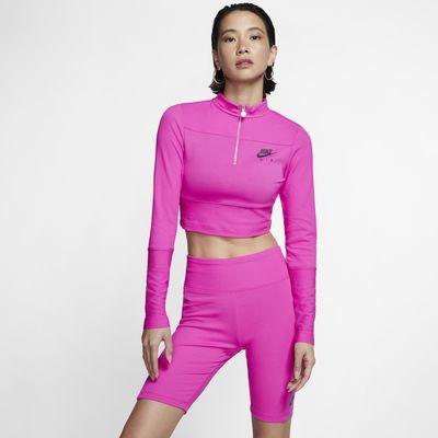 Nike Air langermet overdel med ribbekant til dame