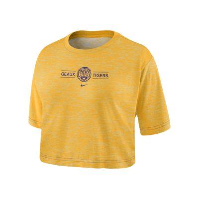 Nike College Dri-FIT (LSU) Women's Cropped T-Shirt
