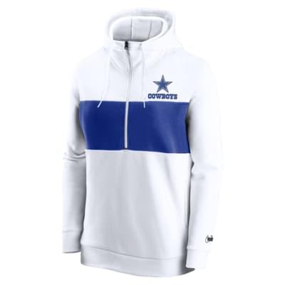Nike Historic (NFL Cowboys) Women's 1/2-Zip Fleece Pullover