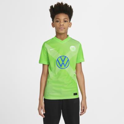 VfL Wolfsburg 2020/21 Stadium (hjemmedrakt) fotballdrakt til store barn