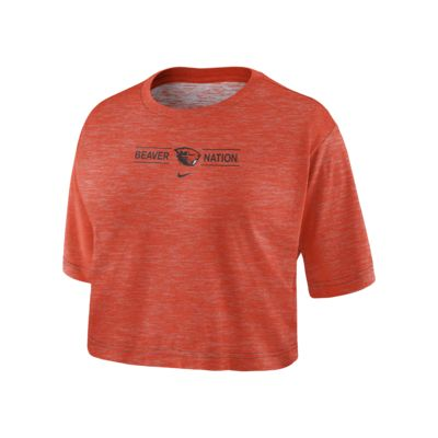Nike College Dri-FIT (Oregon State) Women's Cropped T-Shirt