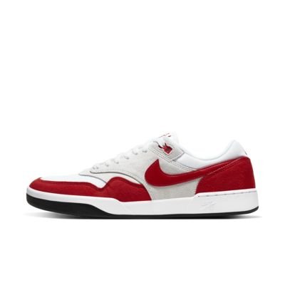 nike sb shoe white and red