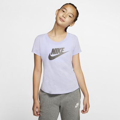 Playera para niña grande Nike Sportswear