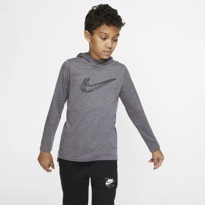 Nike Breathe Big Kids' (Boys') Long-Sleeve Hooded Training Top