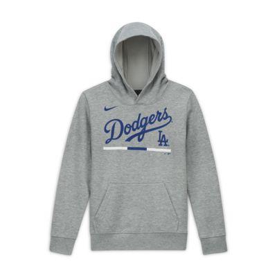 Nike Club Fleece (MLB Los Angeles Dodgers) Big Kids' (Boys') Pullover Hoodie