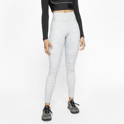Melerede Nike One Luxe-tights med mellemhøj talje til kvinder