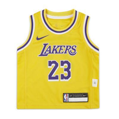 洛杉矶湖人队 (LeBron James) Icon Edition Nike NBA Replica Jersey 婴童球衣
