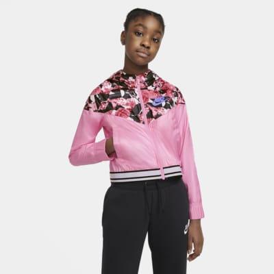 Nike Sportswear Windrunner Older Kids' (Girls') Graphic Jacket