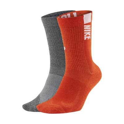 Nike College Multiplier (Clemson) Crew Socks (2 Pairs)