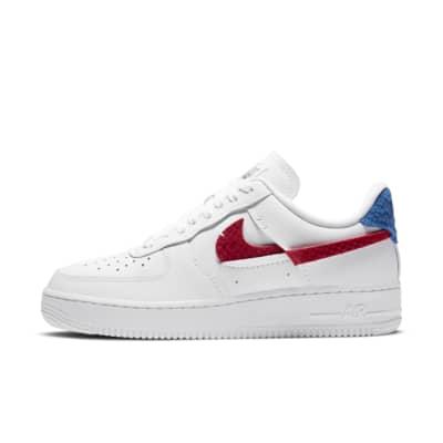 chaussures nike air force 1 femme rouge et bleu et blanc