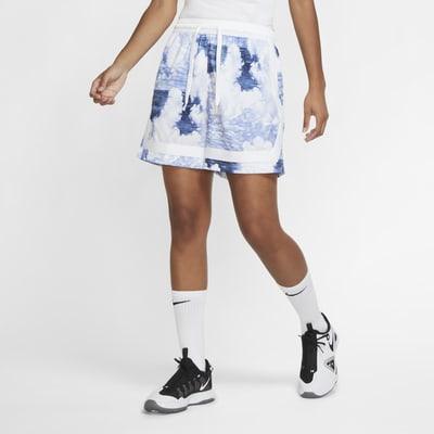 Dámské basketbalové kraťasy Nike Swoosh Fly spotiskem