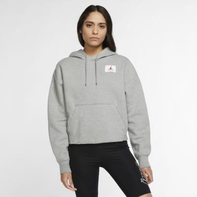 Jordan Flight-pullover-hættetrøje i fleece til kvinder