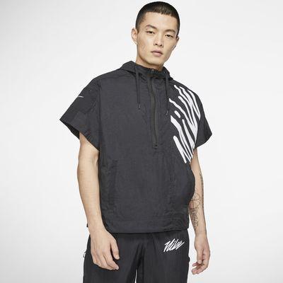 Nike kurzärmliges Trainings-Hoodie mit Halbreißverschluss für Herren