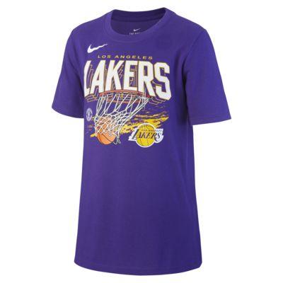NBA-t-shirt Los Angeles Lakers Team Mark Nike Dri-FIT för killar