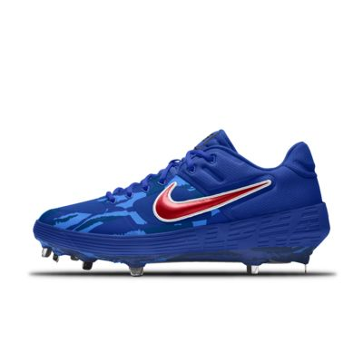 Chaussure de baseball à crampons personnalisable Nike Alpha Huarache Elite 2 Low Metal Premium By You
