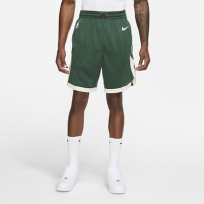 Shorts Nike NBA Swingman para hombre Milwaukee Bucks Icon Edition