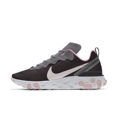 Specialdesignad livsstilssko Nike React Element 55 By You för kvinnor