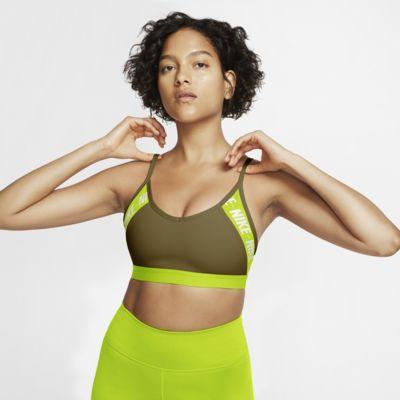 Nike Indy Sport-BH mit leichtem Halt und Logo für Damen