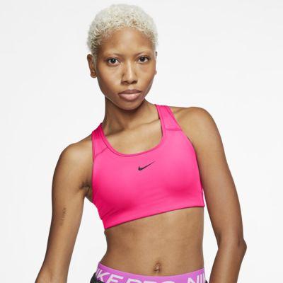 Nike Swoosh sports-BH med innlegg og middels støtte til dame