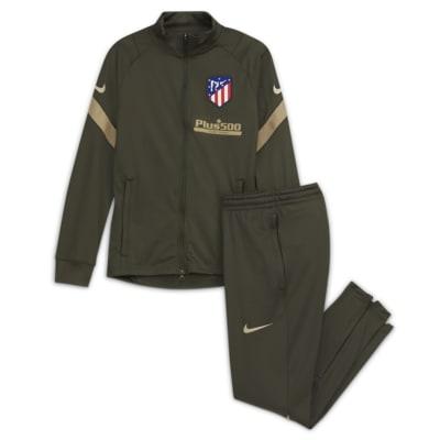 Atlético de Madrid Strike Strick-Fußball-Trainingsanzug für ältere Kinder
