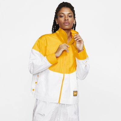 Lakers Courtside City Edition Nike NBA-damesjack met drukknopen