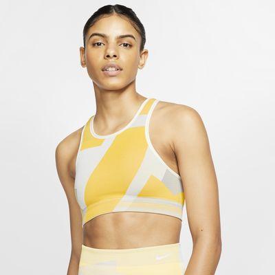Sujetador deportivo de sujeción ligera sin costuras para mujer Nike Icon Clash