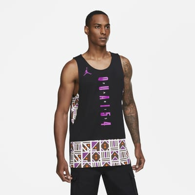 Camiseta de tirantes para hombre Jordan Legacy Quai 54