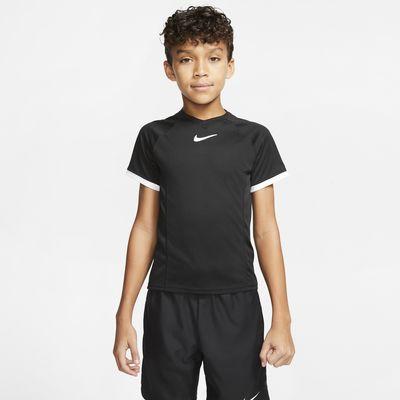 Maglia da tennis a manica corta NikeCourt Dri-FIT - Bambino/Ragazzo
