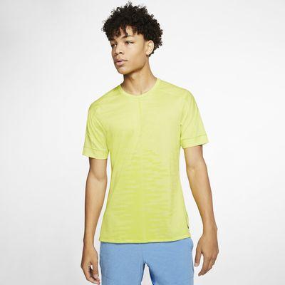 Kortærmet Nike Yoga-overdel til mænd