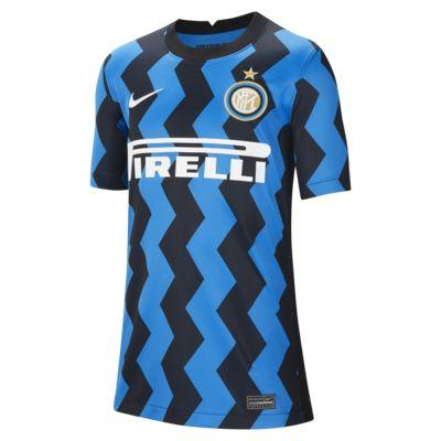Inter Milan 2020/21 Stadium Home Fußballtrikot für ältere Kinder