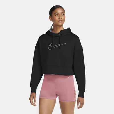 Sweat à capuche de training court Nike Therma pour Femme