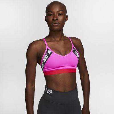 Спортивное бра с легкой поддержкой для йоги с логотипом Nike Indy