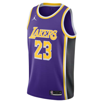 LeBron James Lakers Statement Edition 2020 Jordan NBA Swingman Jersey