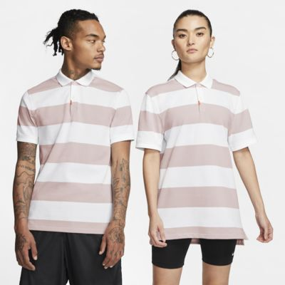 The Nike Polo unisex stripete poloskjorte i smal passform