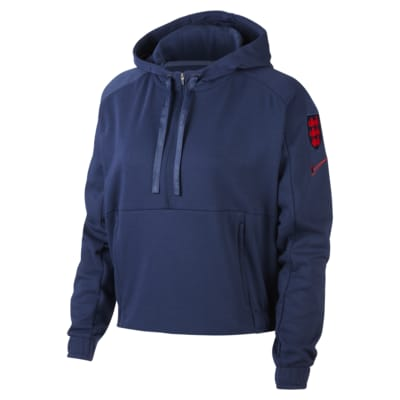 England Women's Cropped Pullover Football Hoodie