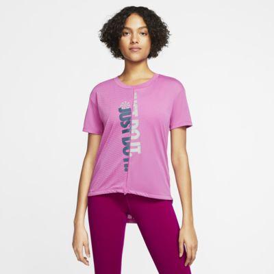 Haut de running à manches courtes Nike Icon Clash pour Femme