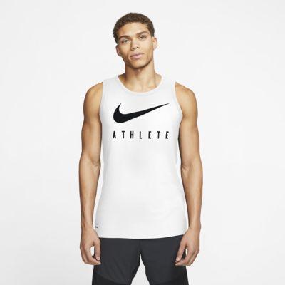 Męska koszulka treningowa bez rękawów z logo Swoosh Nike Dri-FIT