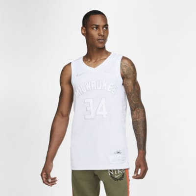 Giannis Antetokounmpo Bucks MVP-Nike NBA-trøje til mænd