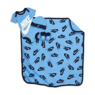 Nike Baby (0-12M) 4-Piece Set (w/ Blanket)