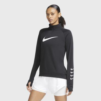 Top da running con zip a metà lunghezza Nike Swoosh Run - Donna