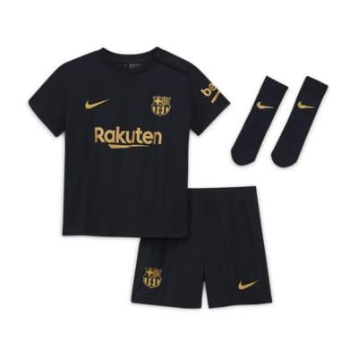 Kit de fútbol para bebé e infantil FC Barcelona 2020/21 de visitante