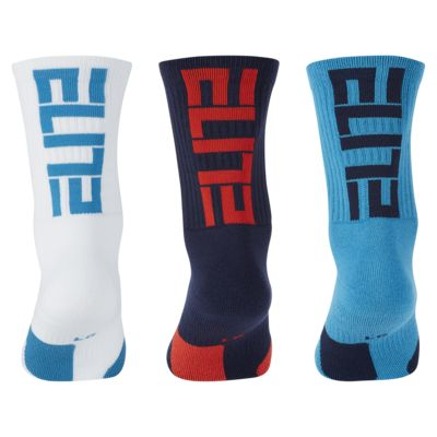 Nike Elite Basketball Crew Socks (3 Pairs)