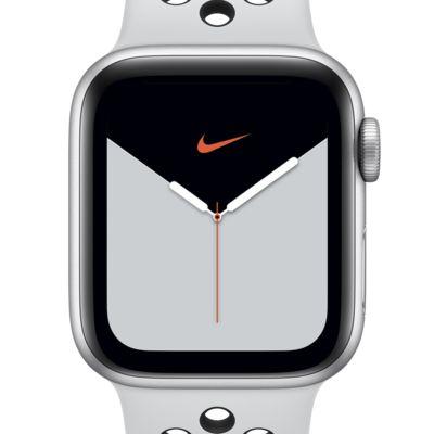 De este modo Gran engaño cráneo  Apple Watch Nike Series 5 (GPS + celular) con estuche de aluminio plata de  44 mm y correa Nike Sport. Nike.com