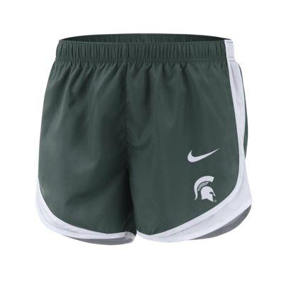 Shorts para mujer Nike College Dri-FIT Tempo (Michigan State)