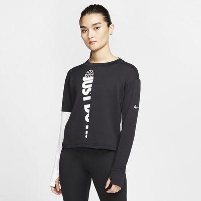 Nike Therma Icon Clash 女子长袖跑步上衣