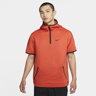 Nike Pro 男子 1/4 拉链开襟短袖训练连帽衫