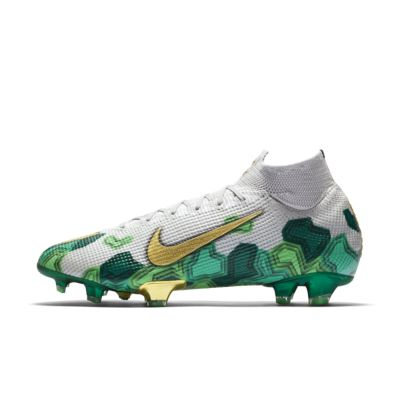 green nike soccer boots